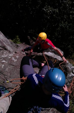 Climber progression climbing courses Snowdonia Higher climbing wales