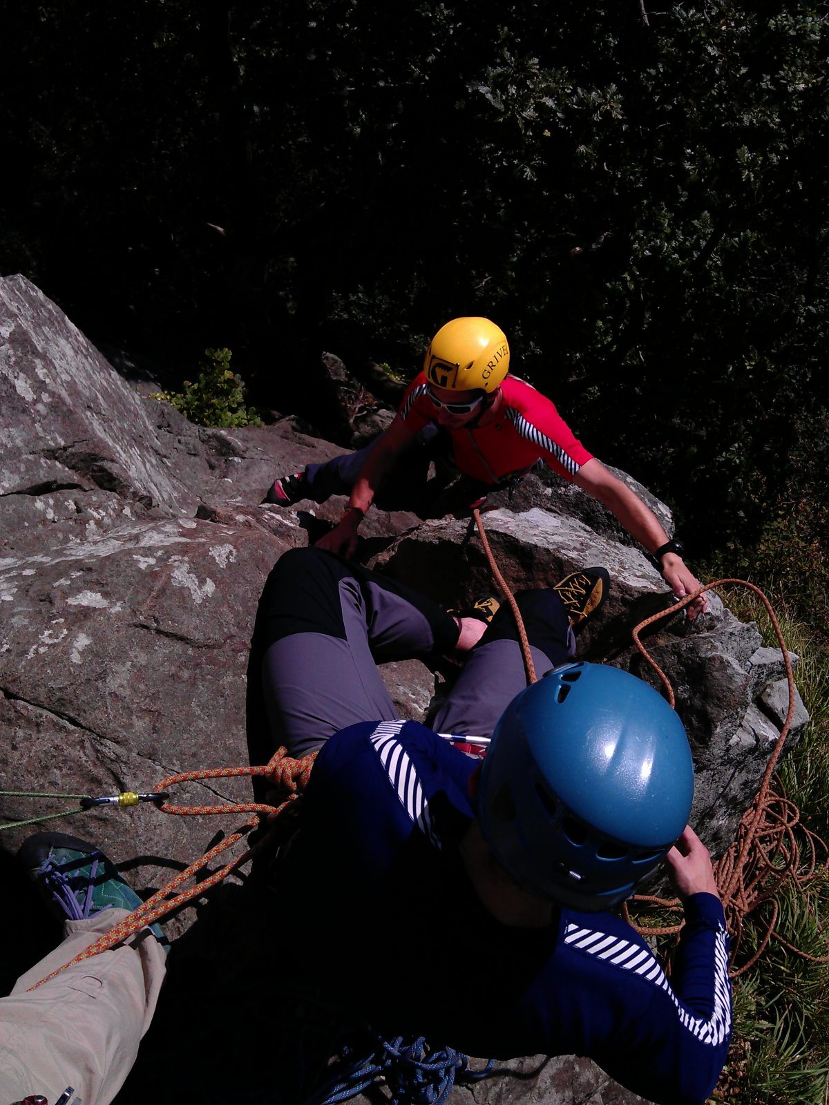 Climber progression climbing courses Snowdonia Higher climbing wales