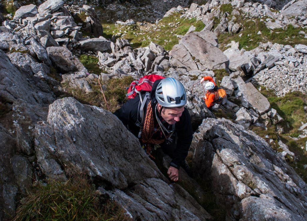 Main-gully-scramble-snowdonia-mountaineering-scrambling-higher climbing
