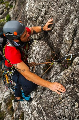 Climber Progression - advanced rock climbing snowdonia higher climbing wales