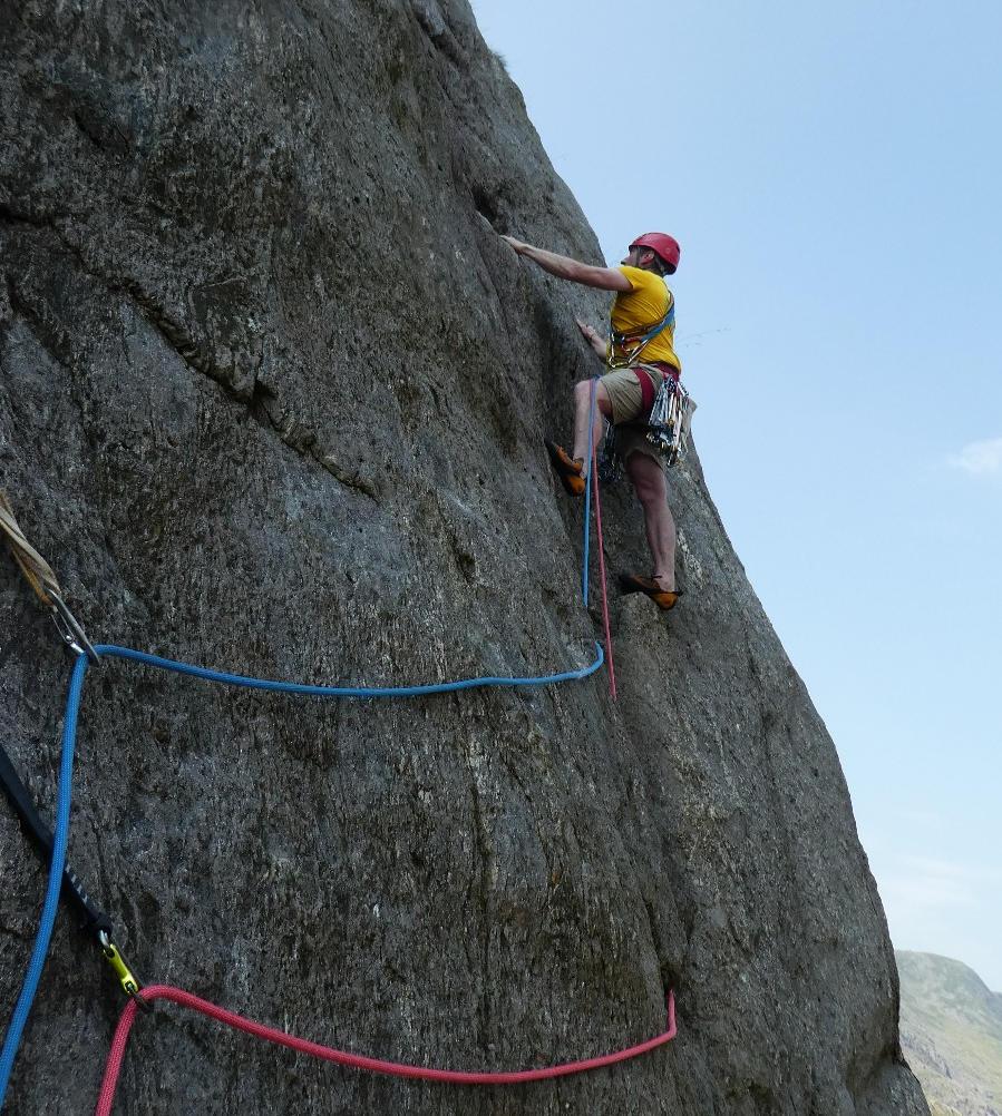 Rock Climbing on Dinas Mot