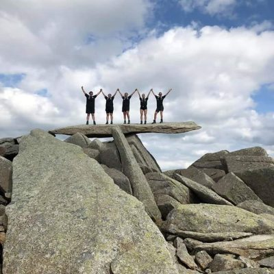 Guided walks on the Glyders the cantilever stone